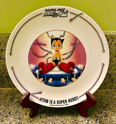 Astro Boy Atom is a Super Hero Ceramic Plate Stand Maruki Tezuka Productions