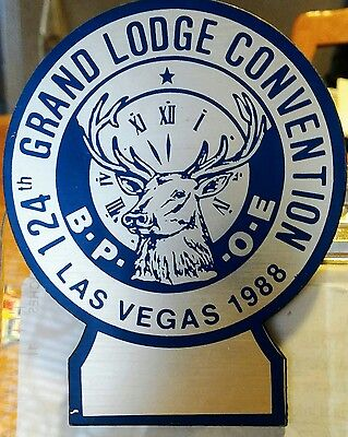 Elks BPOE Button Pin 1988 Grand Lodge Convention 124TH YEAR