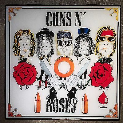 GUNS N' ROSES Dirty Streets Record Cover Ceramic Tile Coaster