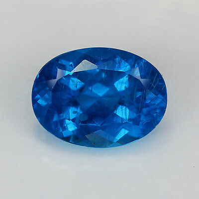 1.62 Cts-Oval Cut-Natural-Neon Blue-Apatite-GE331