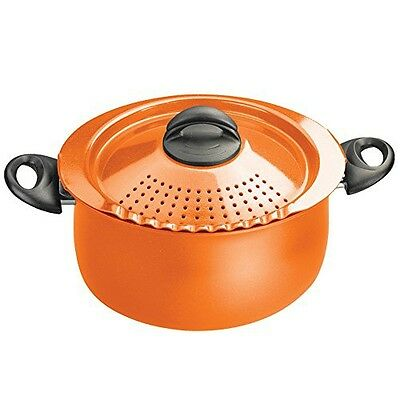 Bialetti 7258 Trends Collection 5 Quart Pasta Pot, Orange