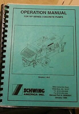 schwing wp series concrete pump operation manual