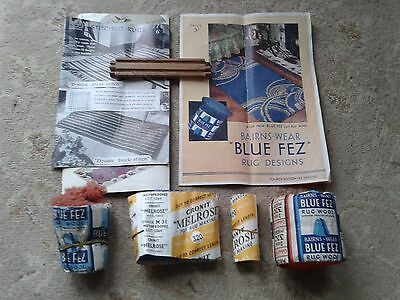 Blue Fez Rug design / patterns and wool gauage