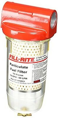 Fill-Rite F1810PC1 Hydrosorb Clear Bowl Filter with Drain