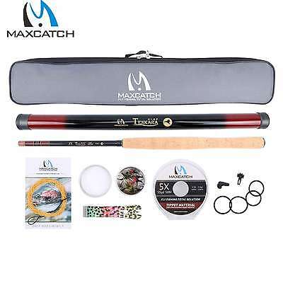 Maxcatch 12FT Tenkara Fly Rod Set Fly line&Tippet&Nipper&Flies Ready To Fish