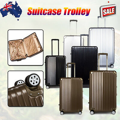 "2 pc 20"" 29"" Luggage Suitcase Trolley Set TSA Carry On Bag Hard Case Lightweight"
