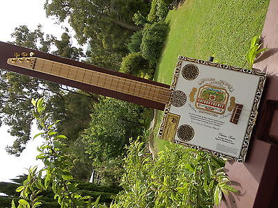 """Cigar Box Guitar A 3 string fretless """"LEFTY"""" with 2 pick ups by Jandyb"""