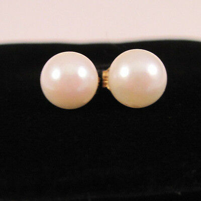 14K Gold Pearl Enhancers For Earrings! Beautiful Color!