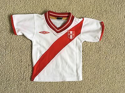 Boys Kids Peru Umbro 'Guerrero #9' Football Shirt Jersey Top