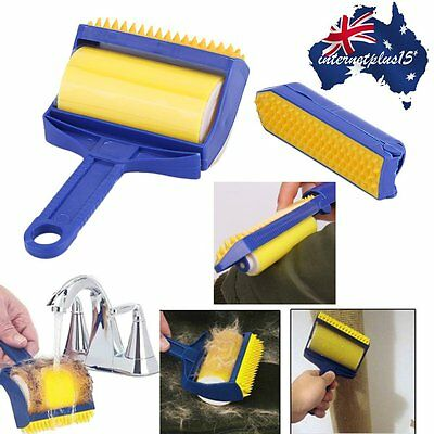 2PCS Reusable Picker Cleaner Lint Sticking Roller Pets Hair Remover Brush I5