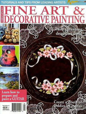 Fine Art & Decorative Painting Vol 22 No 11. 2015.pattern Sheet Attached