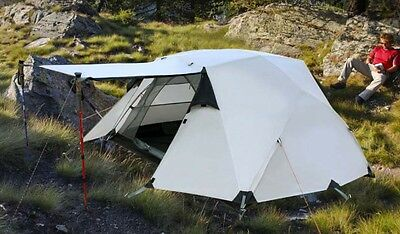 2 Persons Khaki Double Lining Outdoor Waterproof Beach Camping Hiking Tent #