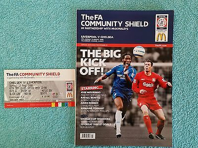2006 - COMMUNITY SHIELD PROGRAMME + MATCH TICKET - LIVERPOOL v CHELSEA (b)