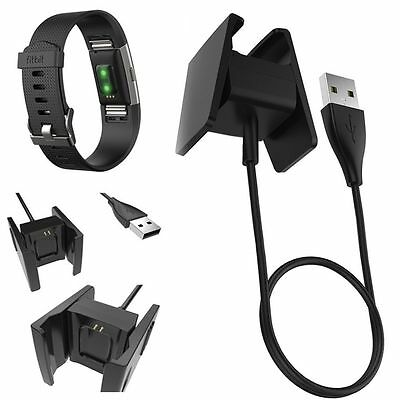 2PCS USB Charging Cable Replacement Accessories Charger For Fitbit Charge 2