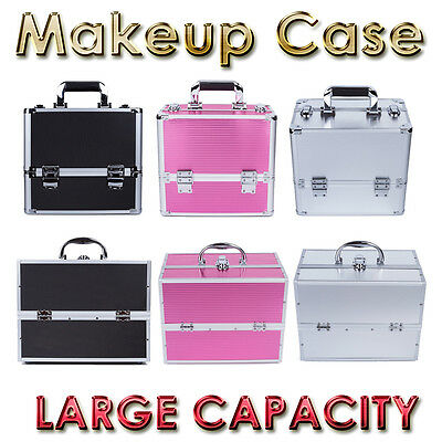 Pro 7 In 1 Portable Cosmetics Beauty Case Makeup Box Carry Bag Organiser Trolley