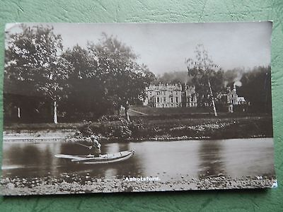 Vintage Rp Postcard - Abbotsford House , Melrose , Roxburghshire