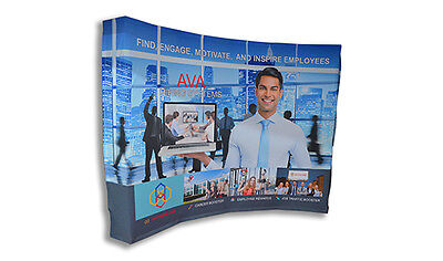 Fabric Pop Up Curved Display 10 x 8 Ft