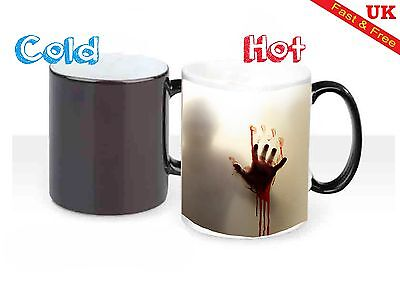 Walking Dead The Zombie Magic Heat Reactive Colour Changing Mug Coffee Cup Mugs