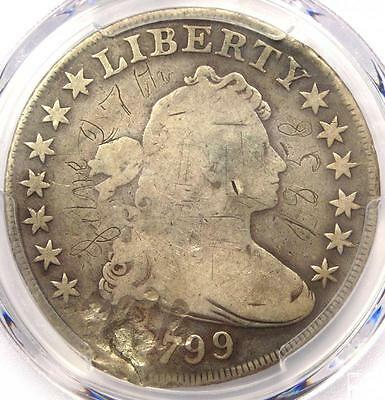 1799 Draped Bust Silver Dollar $1 - Certified PCGS VG Details - Rare Coin!