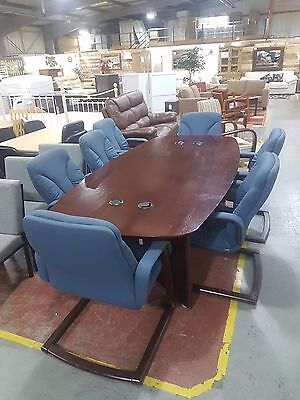 8 Foot Conference Table and 6 Chairs