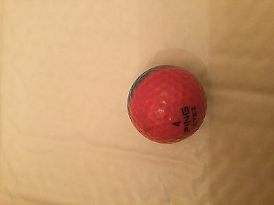 Rare ping golf ball- Turquoise/pink 002