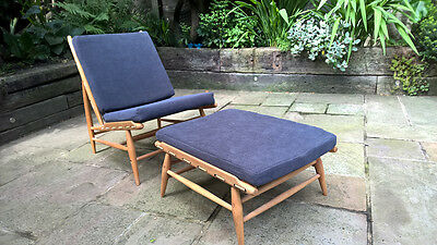 Beautiful Ercol day bed chair with footstool Excellent condition designer