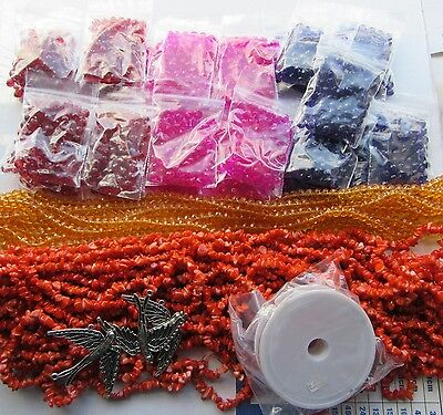 Job Lot of Beads and Jewellery Making Craft Clear out Seconds