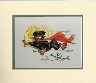 Mini Print Rottweiler by Mike McCartney