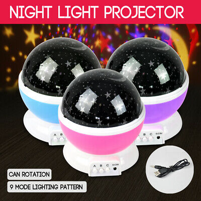 Star Moon Sky Starry Night Projector Fairy Light Lamp Gift Kids Baby Bedroom