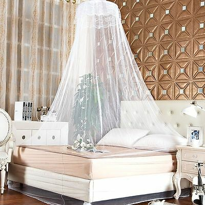 Elegant Lace Bed Mosquito Netting Mesh Canopy Princess Round Dome Bedding Net UK