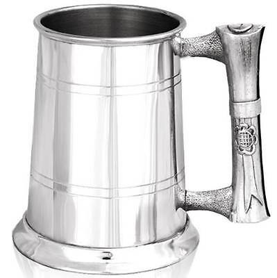 1 Pint Graduation Scroll Handle Tankard with Free Engraving