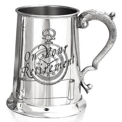 1 Pint Retirement Scene Tankard With Free Engraving