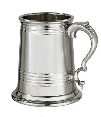 1 Pint X-Range Worcester Part Satin Pewter Tankard With Free Engraving