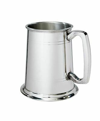 1 Pint Double Lines Pewter Tankard with Free Engraving