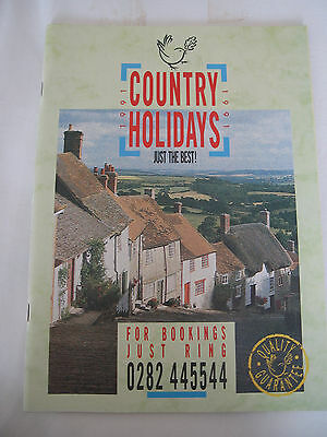 Vintage Holiday Brochure 1991 Country Holidays