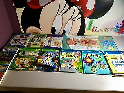Leap Frog Tag Reading system Toy story 3 pen and 7 books