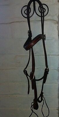 Western double stitched headstall/ bridle with throat lash