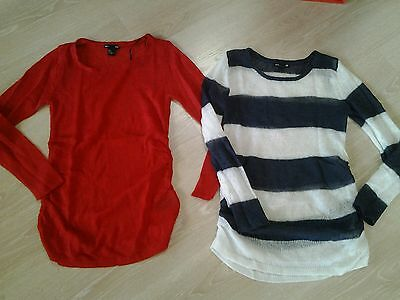 Lot 2 pulls grossesse H&M taille S
