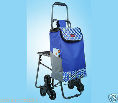 * New Blue Chair Six-Tire Convenient Collapsible Shopping Luggage Trolleys