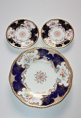 Coalport Batwing, 9 Inch Plate And 2 Saucers.