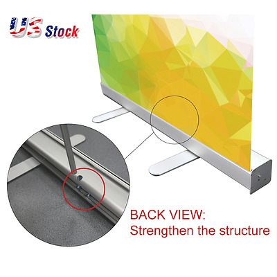 """USA 33""""W x 79""""H Strengthen Economy Standard Retractable / Roll Up Banner Stand"""