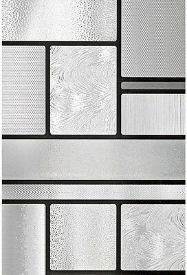 Modern Home Privacy Window Film Frosted Glass Tile Stained Etched Art Room Decor