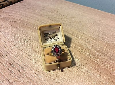 Antique Late Georgian 18ct gold 1.2 ct Spinel and Diamond Ring C1810/20