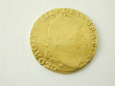 King George III half guinea coin dated 1786 22 carat gold 3.9 grams