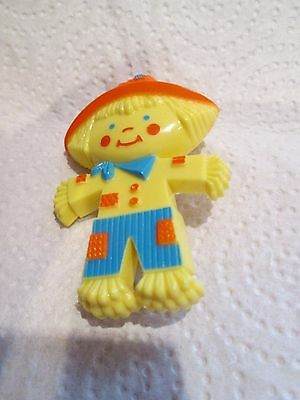 Collectable Vintage Children's Avon Scarecrow Perfume Brooch - Empty
