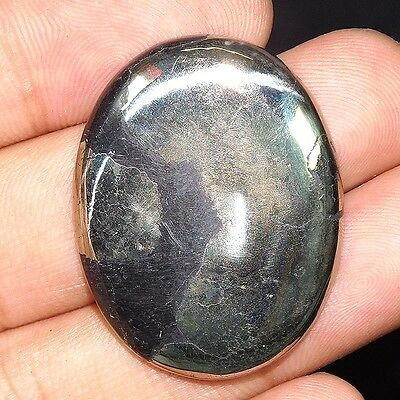 73.75Cts 100% NATURAL AWESOME PYRITE OVAL 35X28 LOOSE CAB GEMSTONE UL151