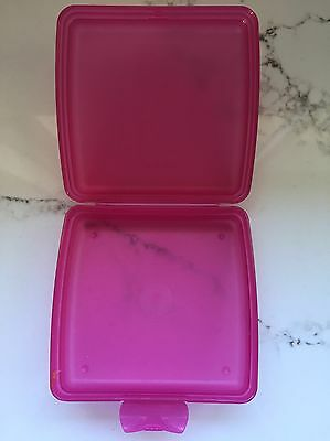 Tupperware Sandwich Keeper Lunch Box - Pink - Ex Used Condition
