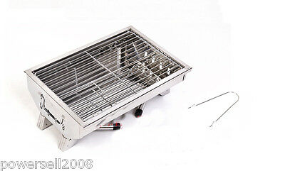 !New Outdoor Stainless Steel Household Portable Folding Charcoal BBQ Grill