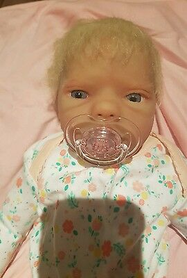 Silicone baby doll Babyclon Berlin Awake with wet and drink system