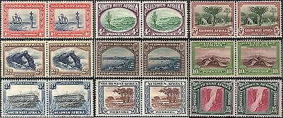 NT01 - South West Africa 1931 Local Motifs lot of 18 stamps include 10 and 20 SH